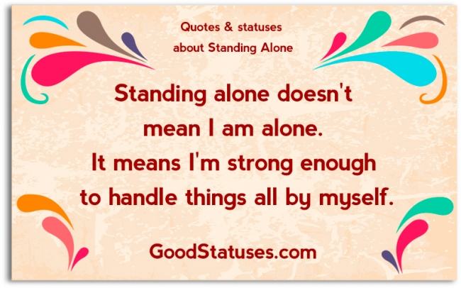 Iu0027m Strong In Lonely   Alone Quotes And Statuses