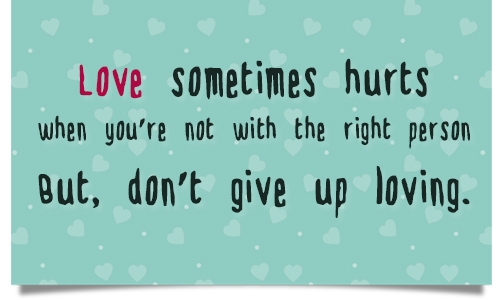 love hurts quotes and sayings for him
