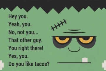 Yes, you. Do you like tacos? - Silly status and quote on GoodStatuses.com