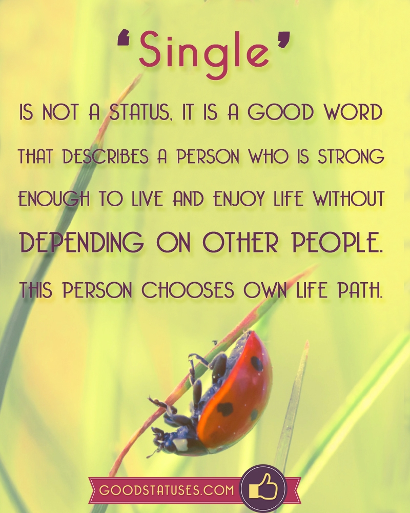 Strong Life Quote Word Single Describes A Person Who Is Strong  Single Status And