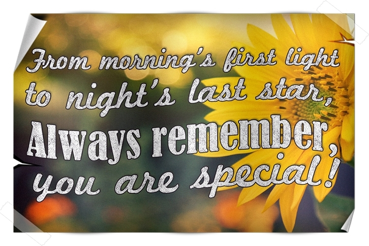Good Morning Status & Quotes: You are very special