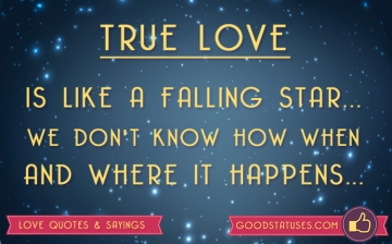 True Love is like a falling star - Love status & Quotes